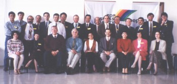 Figure 2: Participants in the weekend Workshop on Counselling in Family Practice held in April 1995, with facilitators Dr Graham Curtis Jenkins & Ms Jennifer Pace and organiser Dr Mario R Sammut (sitting fourth, fifth and sixth from left)